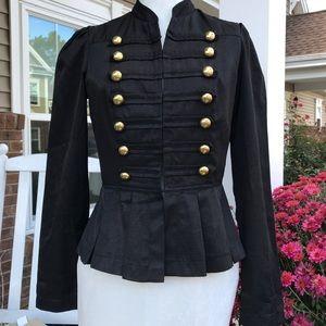 Black lined light military jacket S